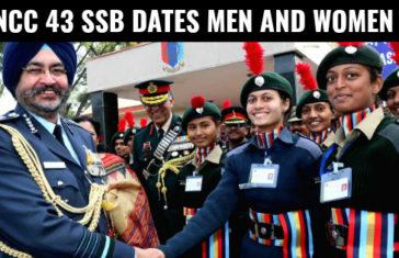NCC 43 SSB Dates Men and Women