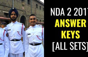 NDA 2 2017 ANSWER KEYS [ALL SETS]