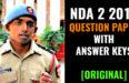 NDA 2 2017 QUESTION PAPER WITH ANSWER KEYS [ORIGINAL]