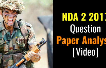 NDA 2 2017 Question Paper Analysis [Video]