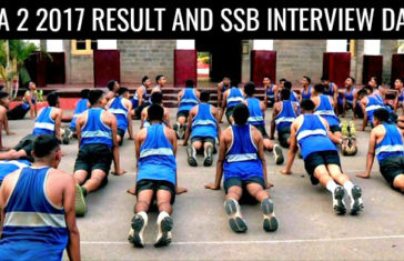 NDA 2 2017 RESULT AND SSB INTERVIEW DATE