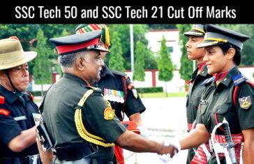 SSC TECH 50 AND SSC TECH 21 CUT OFF MARKS