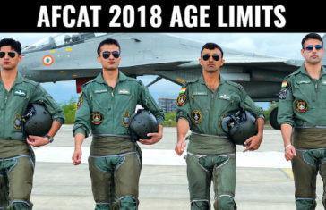 AFCAT 2018 AGE LIMITS