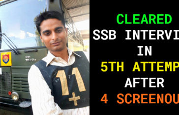 CLEARED SSB INTERVIEW IN 5TH ATTEMPT AFTER 4 SCREENOUT