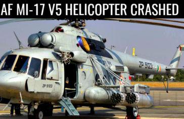 IAF MI-17 V5 HELICOPTER CRASHED