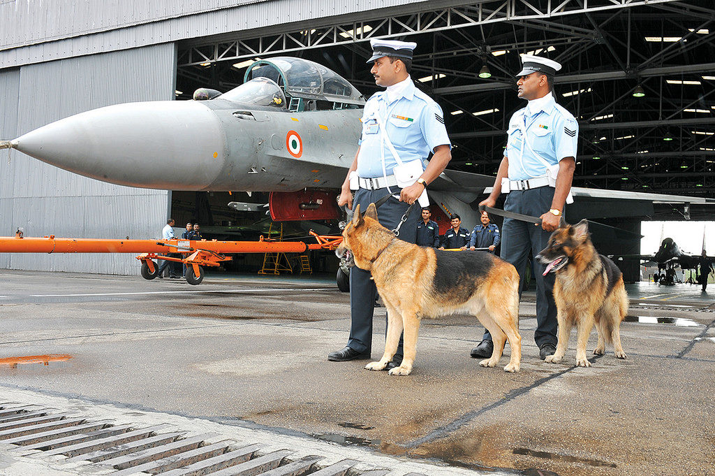 IAF police screening the area of aircraft