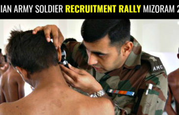 INDIAN ARMY SOLDIER RECRUITMENT RALLY MIZORAM 2017