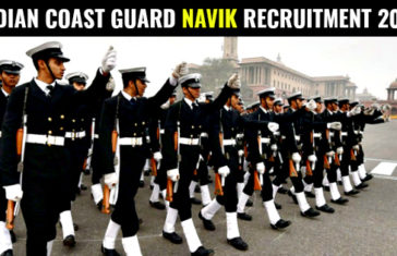 INDIAN COAST GUARD NAVIK RECRUITMENT 2017