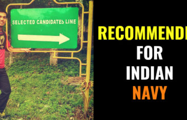 Recommended For Indian Navy Through NDA Exam