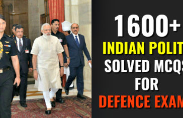 1600+ INDIAN POLITY SOLVED MCQS FOR DEFENCE EXAMS