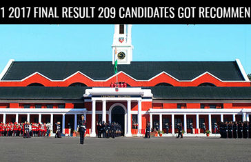 CDS 1 2017 FINAL RESULT 209 CANDIDATES GOT RECOMMENDED
