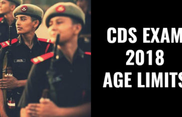 CDS EXAM 2018 AGE LIMITS