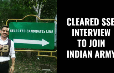 CLEARED SSB INTERVIEW TO JOIN INDIAN ARMY