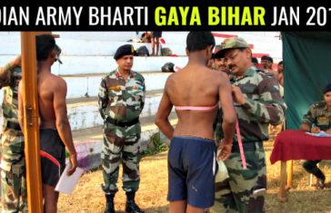 INDIAN ARMY BHARTI GAYA BIHAR JAN 2018