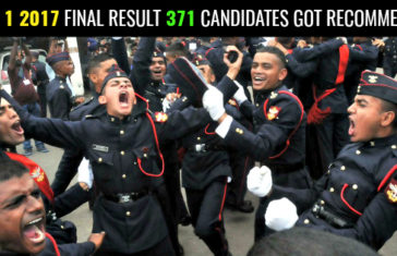 NDA 1 2017 FINAL RESULT 371 CANDIDATES GOT RECOMMENDED