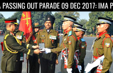 IMA Passing Out Parade 09 Dec 2017: IMA POP