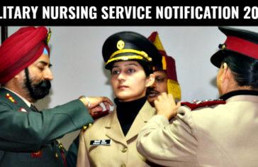 MILITARY NURSING SERVICE NOTIFICATION 2018