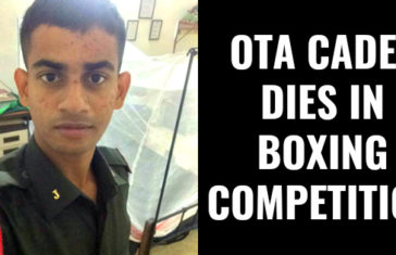 OTA CADET DIES IN BOXING COMPETITION