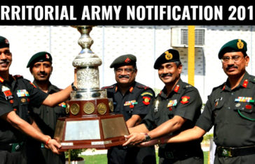 TERRITORIAL ARMY NOTIFICATION 2018
