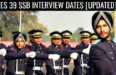 TES 39 SSB INTERVIEW DATES [UPDATED]