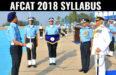 afcat 2018 syllabus