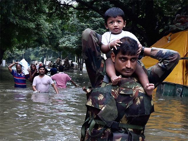 indian army flood