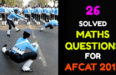 26 SOLVED MATHS QUESTIONS FOR AFCAT 2018