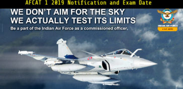AFCAT 1 2019 Notification and Exam Date