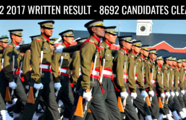 CDS 2 2017 Written Result - 8692 Candidates Cleared