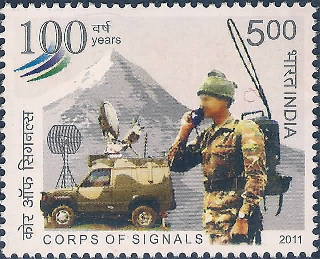 Corps of Signals Stamp