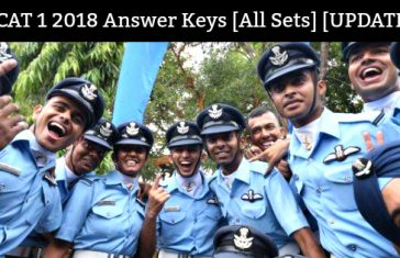 AFCAT 1 2018 Answer Keys [All Sets] [UPDATED]
