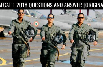 AFCAT 1 2018 QUESTIONS AND ANSWER [ORIGINAL]