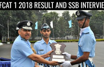 AFCAT 1 2018 RESULT AND SSB INTERVIEW