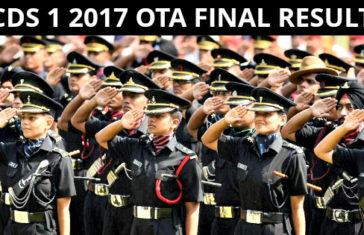 CDS 1 2017 OTA Final Result