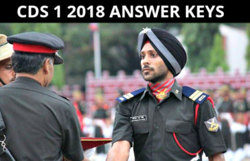 CDS 1 2018 ANSWER KEYS