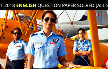 CDS 1 2018 ENGLISH QUESTION PAPER SOLVED [ALL SETS]