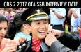 CDS 2 2017 OTA SSB INTERVIEW DATE