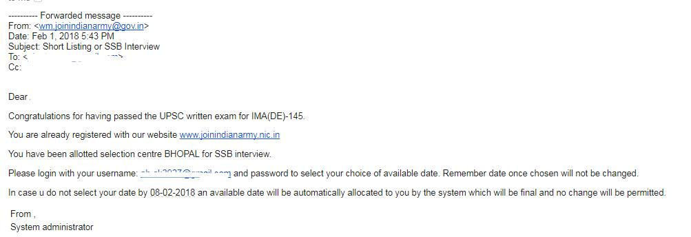 IMA 145 SSB Date