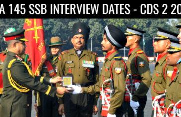 IMA 145 SSB Interview Dates - CDS 2 2017