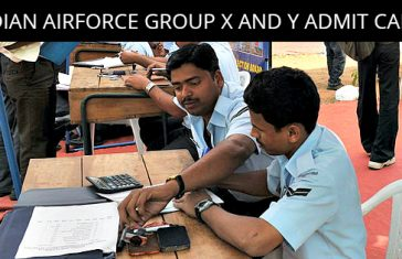 INDIAN AIRFORCE GROUP X AND Y ADMIT CARD