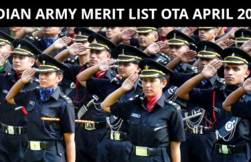 INDIAN ARMY MERIT LIST OTA APRIL 2018