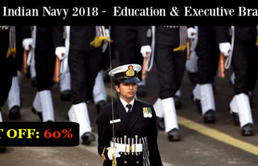 Join Indian Navy 2018 - Education & Executive Branch