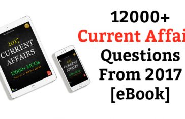 12000+ Current Affairs Questions From 2017 [eBook]