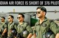 INDIAN AIR FORCE IS SHORT OF 376 PILOTS