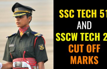 SSC TECH 51 AND SSCW TECH 22 CUT OFF MARKS