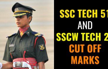 SSC TECH 51 AND SSCW TECH 22 CUT OFF MARKS