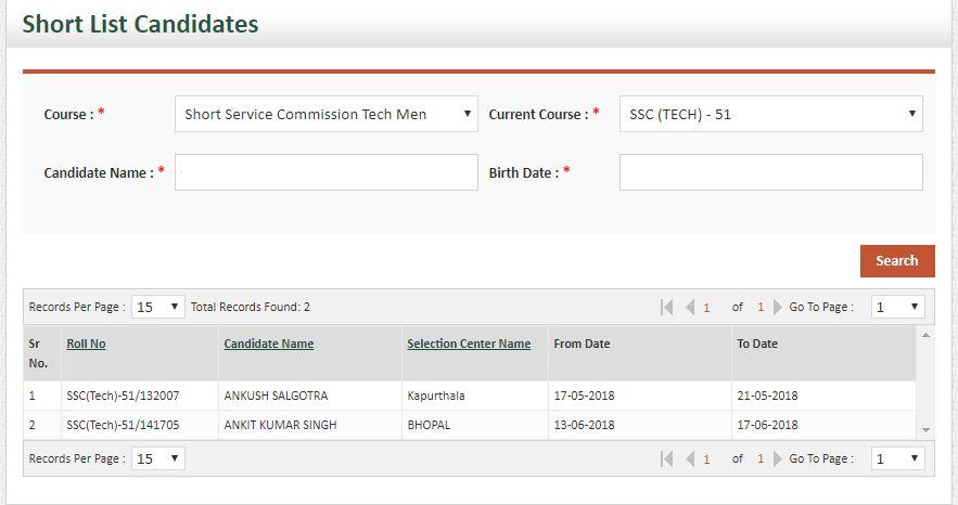 SSC Tech 51 SSB dates