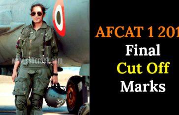 AFCAT 1 2018 Final Cut Off Marks