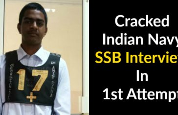 Cracked Indian Navy SSB Interview In 1st Attempt