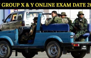 IAF GROUP X & Y ONLINE EXAM DATE 2018